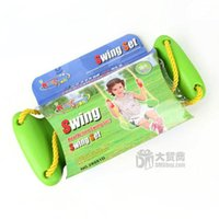 Wholesale Hot sale New arrival Green big platebending swing toy Indoor and outdoor sports plastic baby swing