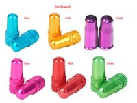 bicycle valve covers - 100pcs Bicycle Bike MTB USA Presta French Valve Caps Anodized Dust Cover