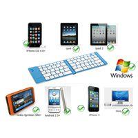 apple external keyboard - External Wireless Folding Bluetooth Keyboard for Apple iPhone iPad Blue CA1T