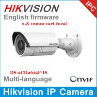 Wholesale Hikvision Network IP camera DS CD2632F IS MP mm vari focal lens IR with Audio alarm IP66 DS CD2632F I