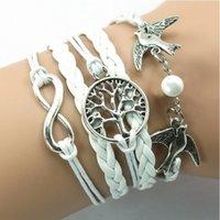 Wholesale 2014 New Various Kinds Bangle Tree Pattern of life Copper Bracelet Lover Birds Owls Bead Bracelet Watch
