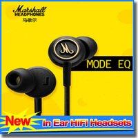 Cheap Hot Marshall MODE EQ headphones with mic in ear headset major black earphones HiFi ear buds headphones universal for mobile phones
