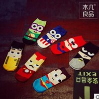 Cheap Superhero cartoon socks Best Cotton men's socks