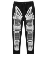 Wholesale Fashion HBA Pants Black and White Size Zippers Effect Bone Sports Pants Trousers Casual Loose Street Dance Hip Hop Sweatpants new style free