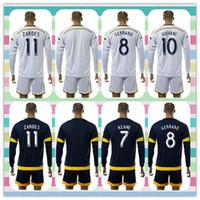 beckham kit - New Product Uniforms Kit LA Galaxy DONOVAN KEANE ZARDES GERRARD Beckham Soccer Jersey White Blue Long Sleeve Jerseys Full Shirt