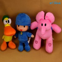 Wholesale New Pocoyo Plush Toys CM Cartoon Figure Bandai Lovely Pocoyo Elly Pato Soft Stuffed Animals Kids Birthday Gift