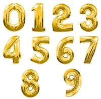 Silver alphabet letters numbers - Hot Sale Cute Silver Gold Alphabet Letters Number Aluminium Foil Balloons Birthday Party Wedding Decoration Balloon