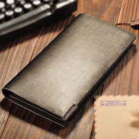 Wholesale Men s leather Long Wallet Leather Leather Wallet Mens Business Long Wallet