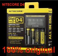 Wholesale 2014 New Nitecore D4 Digicharger LCD Display Battery Charger Universal NiteCore Charger Fit Li ion LifeP04 Ni MH Ni Cd Batteries