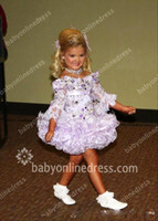 purple cupcake - 2015 Cute Lace Little Girl s Pageant Dresses Bateau Long Sleeves Cupcake Beaded Sequins Mini Short Princess Ball Gown Girl s Prom Dresses