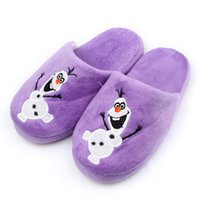 Wholesale Kids Frozen Olaf Plush Stuffed Slippers Cartoon Children Slipper Shoes Kids Shoes D Cartoon Slipper Shoes Baby Slippers