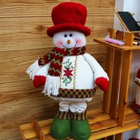 Wholesale 2014 New Arrival Christmas Tree Decoration Lovely Cute Snow Man And Santa Claus Christmas Tree Beauty Christmas Ornament SHB225