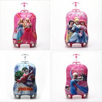 Wholesale 17 colors INCH CARTOON Travel Suitcase Wheels Luggage Square Shape Trolley Bags Spider Man FROZEN Print Draw bar Box Frozen A