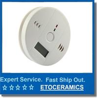 CO Monóxido de Carbono Detector de Envenenamiento Advertencia Alarma S5Q LCD Gas Fuego <b>Sensor</b> estrenar envío libre blanco