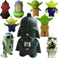 Star Wars USB Drives Master Cartoon Yoda Monster Flash USB Real 2 Go 4 Go 8 Go 16 Go 32 Go USB 2.0 U disque gratuit DHL