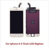 Wholesale Full original LCD Display Touch Digitizer Complete Screen with Frame Full Assembly Replacement for Grade A iPhone plus free ship