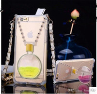 Wholesale Perfume Bottle With Kickstand Case iphone plus Have Liquid Can stand With Chain New Arrival
