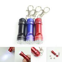 aluminium led keychain - Colorful Mini LED flashlights keychain torch light key chains portable mini LED flashlight keyrings aluminium alloy torches flash lights