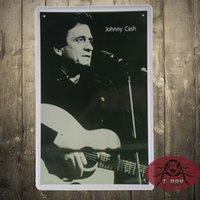 art house restaurant - Johnny Cash Metal signs wall decor House Office Restaurant Bar Metal Painting art