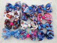 Wholesale 12pcs quot Frozen Hair Bows Elsa Anna Girls Baby Hairbows Grosgrain Ribbon Boutique bows WITH Alligator CLIP frozen bows