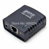 Cheap Free shipping USB 2.0 LRP Print Server Share a LAN Networking USB Printer Ethernet Hub Adapter#3320