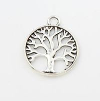 antique mic - New MIC Antique Silver Family Tree Of Life Charms Pendants Jewelry DIY L463 x23 mm Hot