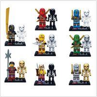 Wholesale 80 Set Phantom Ninjago Janpan Ninja Minifigures Accessory Building Blocks Figures KAI JAY Brick Toy Compatible With Legoe