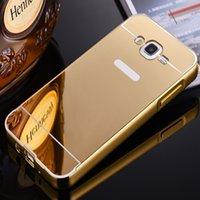 acrylic mirror - J5 J7 Mirror Phone Case For Samsung Galaxy J5 J7 J500 J700 Slim Hybrid Metal Frame Acrylic Back Cover For Galaxy J500F J700F