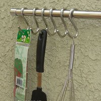 aluminum clad steel - 5pcs Bucket Hook Stainless Steel Powerful Silver S Shape Kitchen Hanger Clothes Hooks Clasp Holder Butcher Hanging Hooks