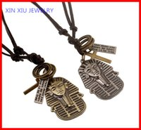 egyptian jewelry - Egyptian pharaoh Vintage Men Cow Leather Fashion Jewelry Necklace Trendy Punk Jewelry