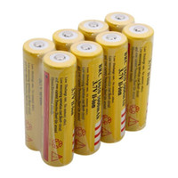 Wholesale Yellow New Ultrafire Batteries mAh V Rechargeable Battery for LED Flashlight Laser pen