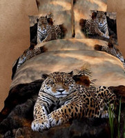 leopard print bedding - funky queen size d bed set bedding set bedclothes Animal Lion tiger leopard printed duvet cover bedspread home textile