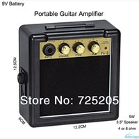 battery acoustic amp - 5W Digital Acoustic Portable Mini Guitar AMP Amplifier Speaker Inches with V Battery Power Supply