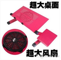 Cheap Wholesale - free shipping new A5 aluminum laptop notebook computer desk bed desk table can be lazy with radiator bracket