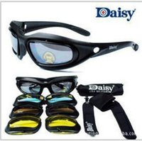 eye protection glasses - Daisy C5 Desert Storm Sunglasses lenses Goggles Tactical Eyewear Cycling Riding Eye Protection For Airsoft UV400 Glasses
