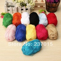 Wholesale 2pcs Worsted Soft Smooth Natural Silk Wool Fiber Baby Skein Knitting Woolen Yarn