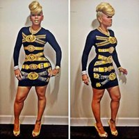 Cheap spring 2015 fashion celebrity keyshia kaoir print bandage bodycon dress sexy club evening party dress special event birthday dress