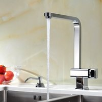 Wholesale 360 Rotating Single Hole Water Tap Basin Kitchen Wash Basin Faucet Chrome Plated