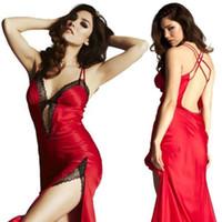 Wholesale w1031 Details about Women s Sexy Lingerie Lace Dress Underwear RED Babydoll Sleepwear Chemise DMUS M
