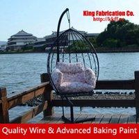 Wholesale Villa wrought iron swing garden swing outdoor rocking chair rocking chair terraces hanging basket Chair