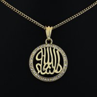 arabian jewelry - 2015 Special Offer Real Women s Alloy Jewelry Plating Three Individual Trade Environment East Arabian Religious Pendant Necklace Gold Plated