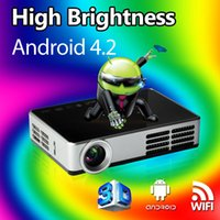 Wholesale Free gift Full HD Mini Smart Android4 Projector Proyector LCD D WIFI Best Home Thearter Protable DLP Projektor Beamer p
