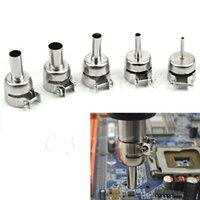 Cheap Free Shipping New 5Pcs Universal Heat Gun Resisting Nozzles Heat Air Guns Solder 45x24mm Hot