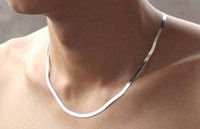 Wholesale 925 Sterling Silver Men s Women s Blade Chain Necklaces Flat Snake Chain