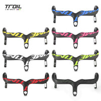 bicycle routes - New arrival Super light full carbon Road Bike handlebar bent bar internal routing Bicycle Parts black matte mm mm