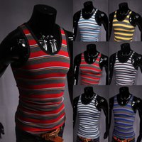 bars ebay - Speed sold through the EBAY and summer black bar into the color of the fashion men s striped elastic vest T102