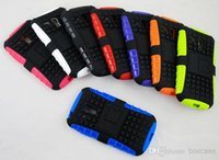 Cheap 100pcs lot TPU+PC Heavy Duty Rugged Cell Phone Protection Hybrid Kickstand Case For Samsung Galaxy S3 Mimi i8190 Cover Skin Shockproof
