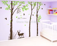 baby nursery room colors - SIA Large Size Colors Tree And Birds Forest Vinyl Wall Sticker Cartoon Nursery Baby Room Cartoon Home Decor