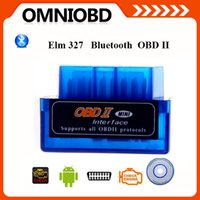 Wholesale Newest Mini V2 ELM327 ELM OBD2 Bluetooth Interface Auto Car Scanner obdii obd ii Diagnostic Tool works on Android