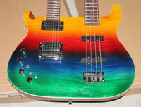 bass guitars for sale - Hot Sale left hand Rainbow guitar Multicolor Double Neck Strings Electric beth Bass Guitar and Strings left handed Electric Guitars
